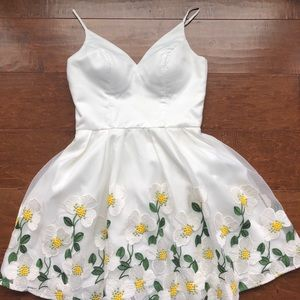 Floral White Dress from Chi Chi London